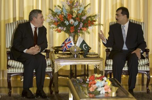 Gordon Brown a Ásif Alí Zardárí