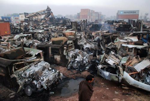 Zničená vozidla Humvee
