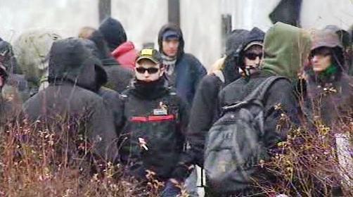 Demonstrace anarchistů