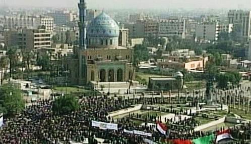 Protiamerická demonstrace v Iráku