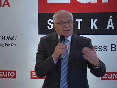 Václav Klaus přednáší