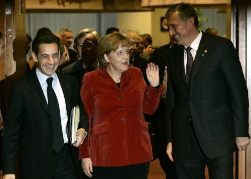 Atmosféra v průběhu summitu EU