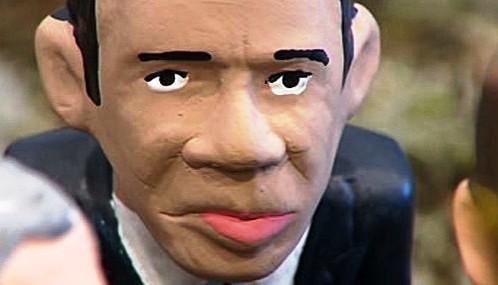 Katalánská vánoční figurka Baracka Obamy