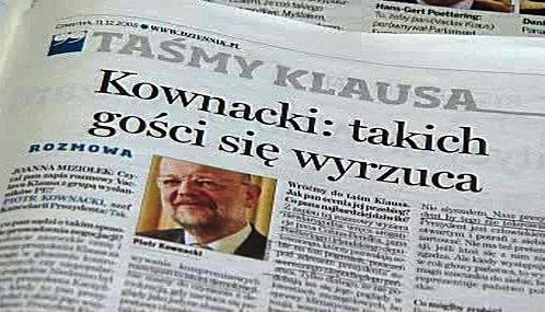 Polský tisk o skandální schůzce Klause s europoslanci