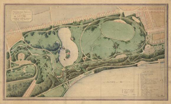 Předběžný projekt parku Letná