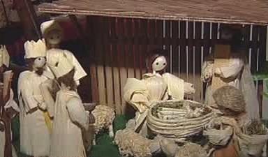 Betlém z kukuřičného šustí