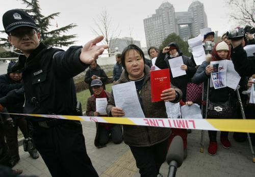 Shromáždění čínských aktivistů za lidská práva