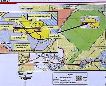 Mapka radaru v Brdech