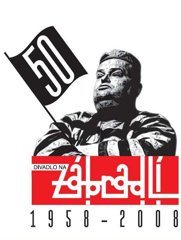 Divadlo Na zábradlí - logo k 50. výročí