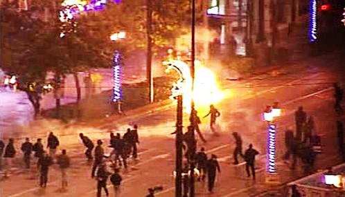 Nepokoje v Řecku