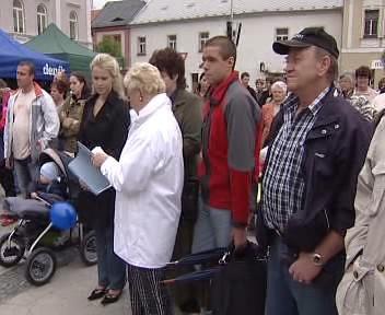 Protesty v Horažďovicích
