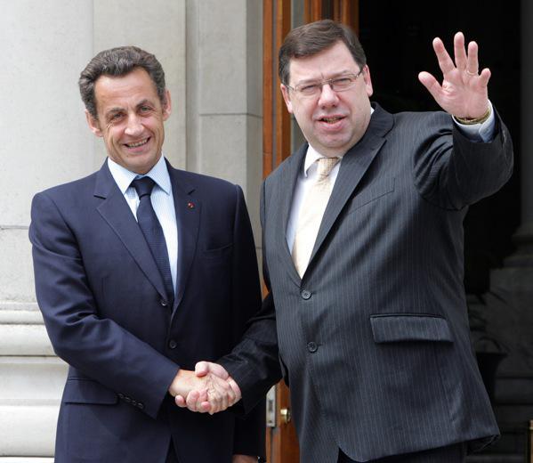 Nicolas Sarkozy a Brian Cowen
