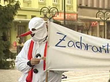 Protestující sněhulák