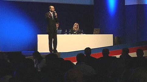 Ivan Langer promlouvá k delegátům
