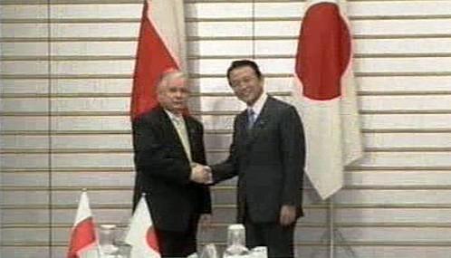 Lech Kaczyński v Japonsku