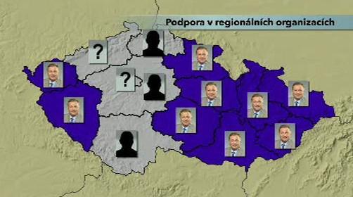 Regionální sdružení o volbě šéfa ODS