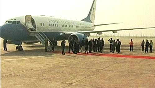 Riceová přijíždí na návštěvě Indie