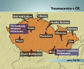 Traumacentra v ČR