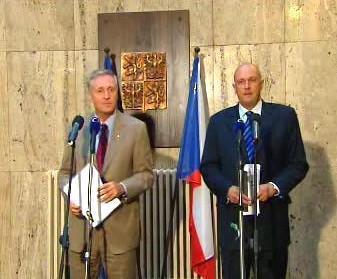 Mirek Topolánek a Tomáš Julínek