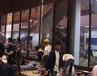 Výbuch před vnitrostátním letištěm Don Muang