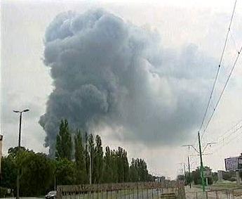Oblaky dýmu nad Poznaní