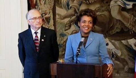 Michaëlle Jeanová s manželem