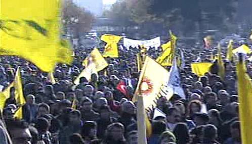 Demonstrace tureckých dělníků