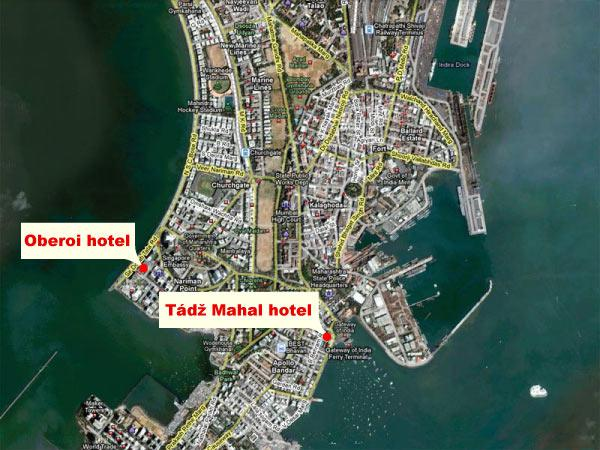 Bombajské hotely, které přepadli teroristé