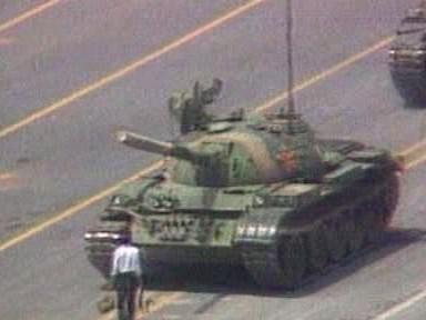 Demonstrace na náměstí Nebeského klidu v roce 1989 v Pekingu
