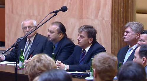 Václav Klaus, Ladislav Jakl a Miloslav Vlček