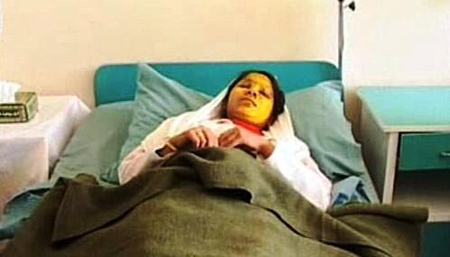 Afghánská dívka napadená kyselinou