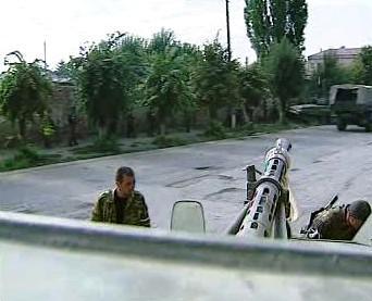 Ruští vojáci v Gruzii