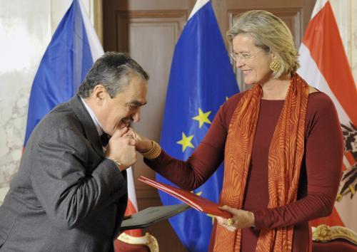 Karel Schwarzenberg a Ursula Plassniková