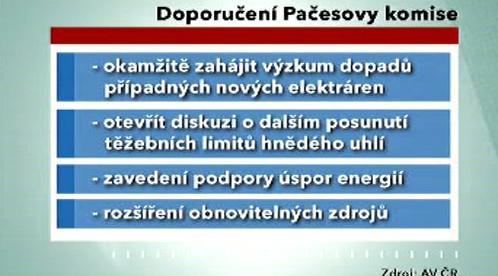 Doporučení Pačesovy komise