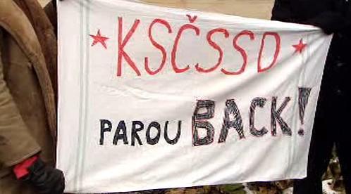 Demonstrace proti ČSSD