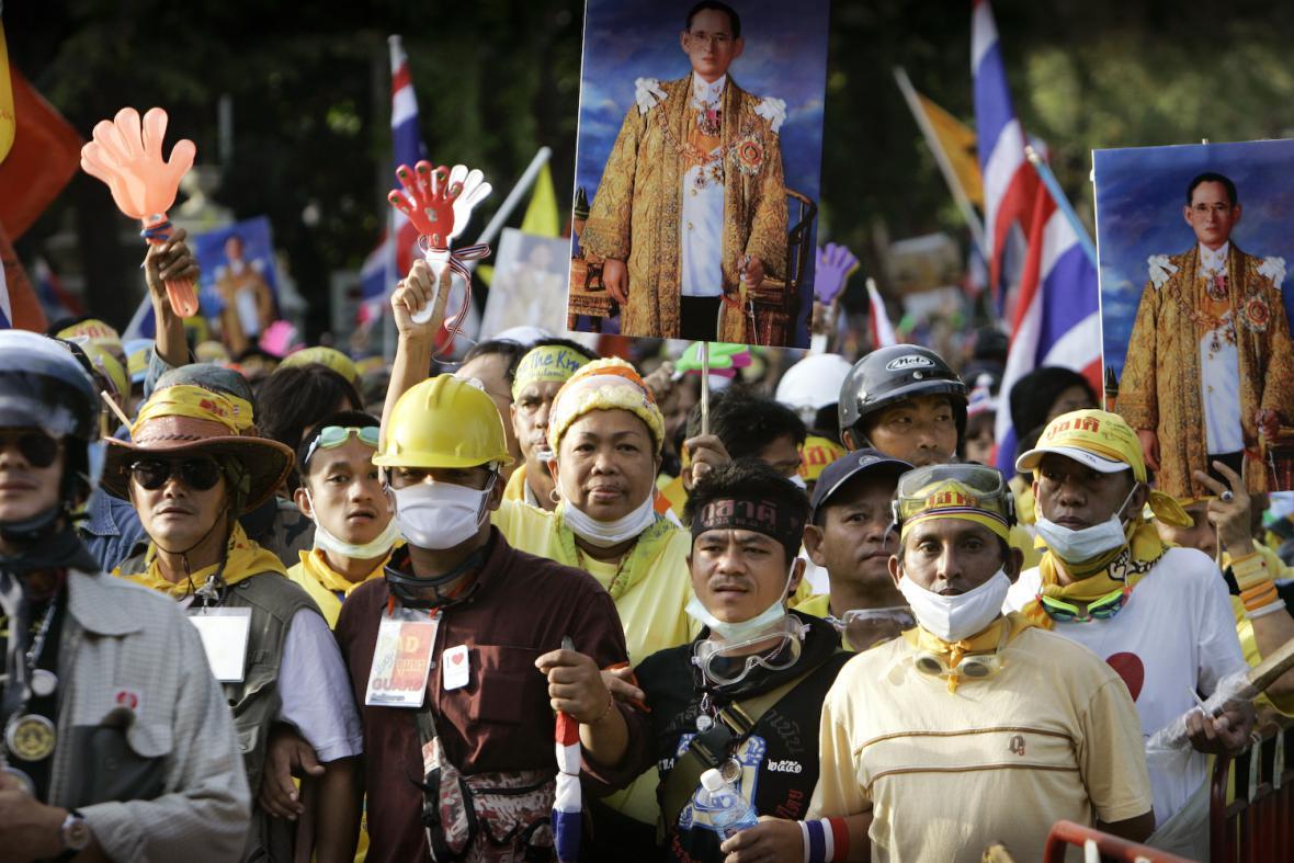Protestující v Thajsku