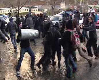Střet v pražských ulicích