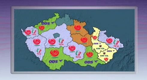 Mapka krajských vlád v ČR