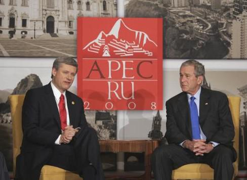Stephen Harper a George Bush