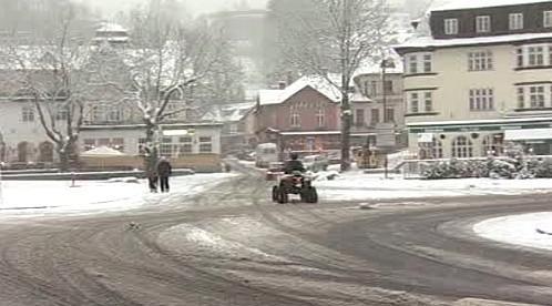 Sníh ve Špindlerově Mlýně
