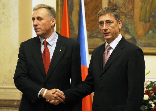 Oba premiéři při tiskové konferenci