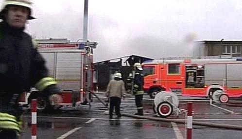Požár na berlínském letišti Tegel