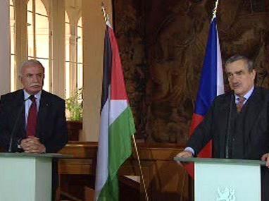 Rijád Malkí a Karel Schwarzenberg