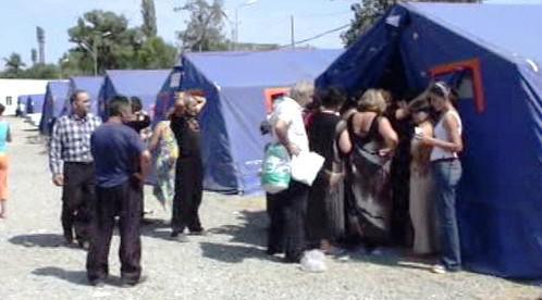 Stanový tábor pro uprchlíky v Gruzii