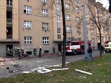 Výbuch v Hradci Králové