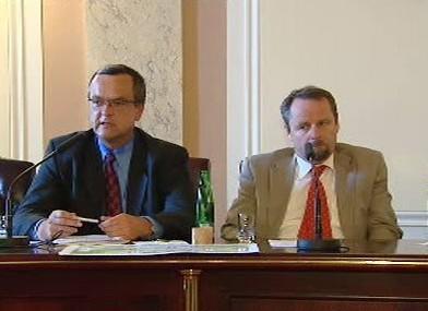 Miroslav Kalousek a Martin Říman