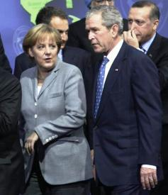 Angela Merkelová a George Bush