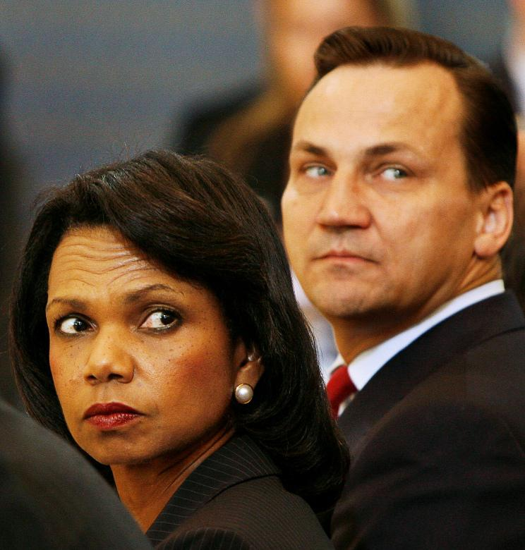 Condoleezza Riceová a Radoslaw Sikorski