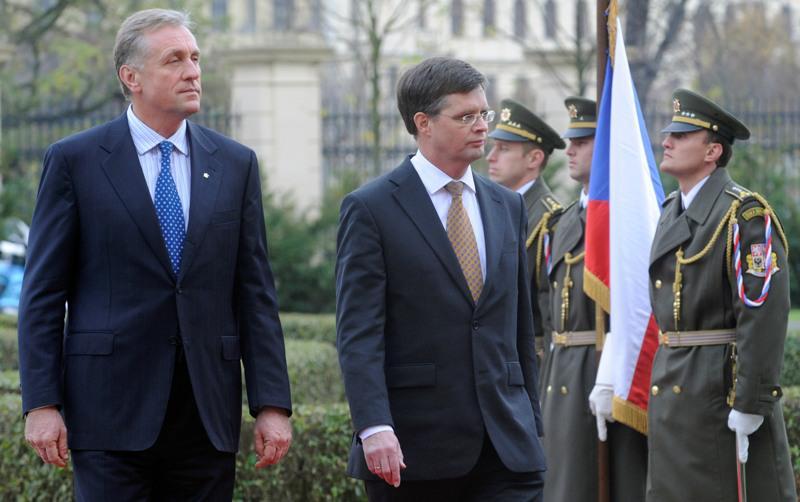 Mirek Topolánek a Jan Peter Balkenende
