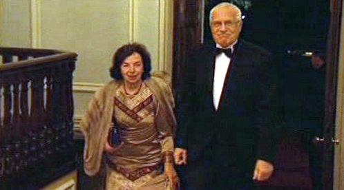 Václav Klaus s manželkou